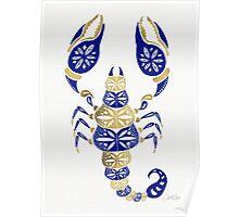 Scorpion – Navy & Gold Poster