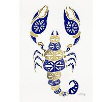 Scorpion – Navy & Gold Photographic Print
