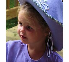 Little Cowgirl Photographic Print