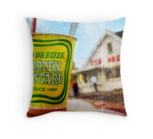 Route 66 - Ted Drewes Frozen Custard Throw Pillow