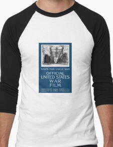 Ships For Uncle Sam -- WWI Men's Baseball ¾ T-Shirt