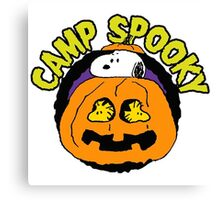 Snoopy Peanuts Camp Spooky Canvas Print