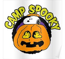 Snoopy Peanuts Camp Spooky Poster