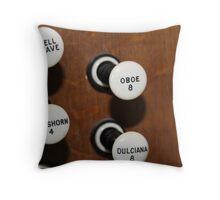 Organ stops Throw Pillow