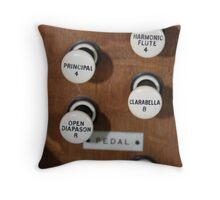 Organ Controls Throw Pillow