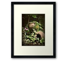 Nature does not knock... Framed Print