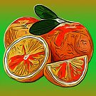 Oranges / The Fruit Shop by Jane Holloway