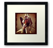 Red Alert Portrait Framed Print