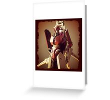 Red Alert Portrait Greeting Card