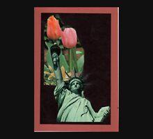 Lady Liberty Raising Tulips Unisex T-Shirt