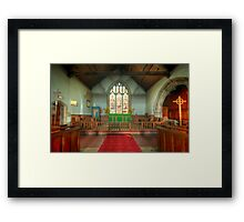 St Michael's Church Alter Framed Print