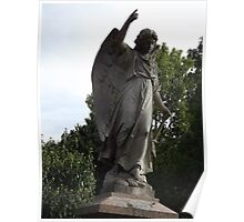 Norwood cemetary: Sculpture: Heavenly Angel -(220811a)- Digital photo Poster