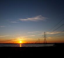 Wind Farm Sunset by Mark Watkin  Price