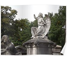 Norwood cemetary: Sculpture: Angel, with broken arms -(220811c)- Digital photo  Poster