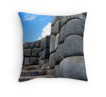 imposing walls of incan kings Throw Pillow