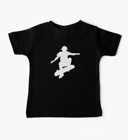 Skater Large - White Baby Tee