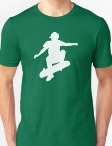 Skater Large - White Unisex T-Shirt