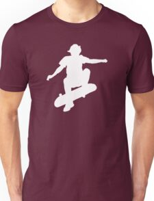Skater Large - White Unisex T-Shirt