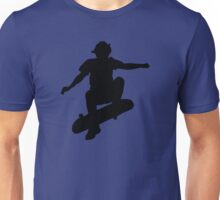 Skater Large - Black Unisex T-Shirt