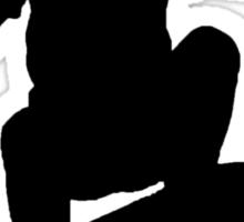 Skater Large - Black Sticker