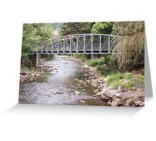 Water Below the Bridge Greeting Card