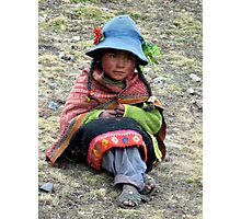 girl of the cusco mountains Photographic Print
