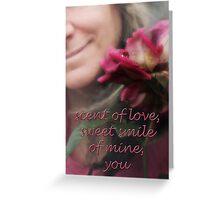 rose & smile Greeting Card