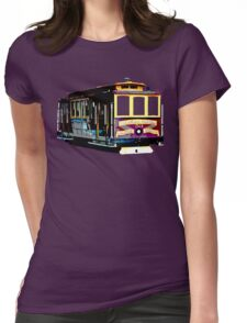 San Francisco Cable Car Womens Fitted T-Shirt