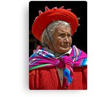 Peruvian grandmother Canvas Print