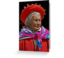 Peruvian grandmother Greeting Card