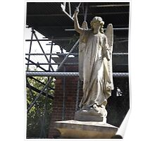Norwood cemetary: Sculpture: Angel, with broken arm -(220811c)- Digital photo Poster