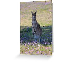Oil brush Kangaroo Greeting Card