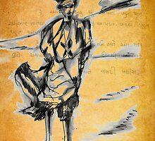 Wandering in the desert by Gilberte