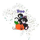 Boo Black Cat Halloween by purplesensation