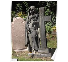 Norwood cemetary: Sculpture: Angel, with broken fingers -(220811c)- Digital photo Poster