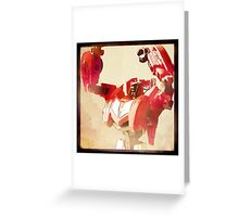 Sideswipe Portrait Greeting Card