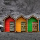 Beach Huts by Andy Harris