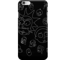 Rick and Morty whole cast (white) iPhone Case/Skin