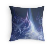 Eternal Flame Abstract Fractal Throw Pillow