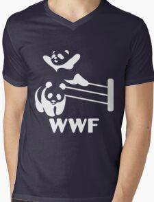 Funny Panda Mens V-Neck T-Shirt