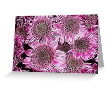 Fractal Flowers Greeting Card
