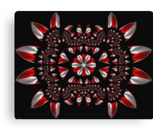 Peppermint Abstract Fractal Canvas Print