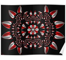 Peppermint Abstract Fractal Poster