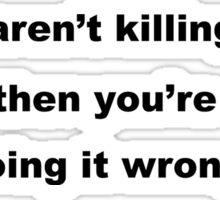 Gun Slogan Sticker