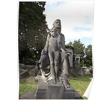 Norwood cemetary: Sculpture: Mother and child -(220811c)- Digital photo Poster