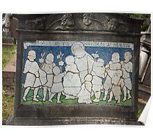 Norwood cemetary: Sculpture: Children mosaic  -(220811c)- Digital photo  Poster