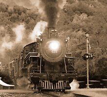 Antique Steam Locomotive by Tom Gotzy