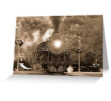 Antique Steam Locomotive Greeting Card