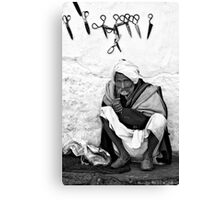 Scissor seller Canvas Print