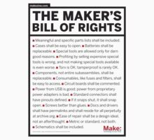 Maker's Bill of Rights by Erik Johnson